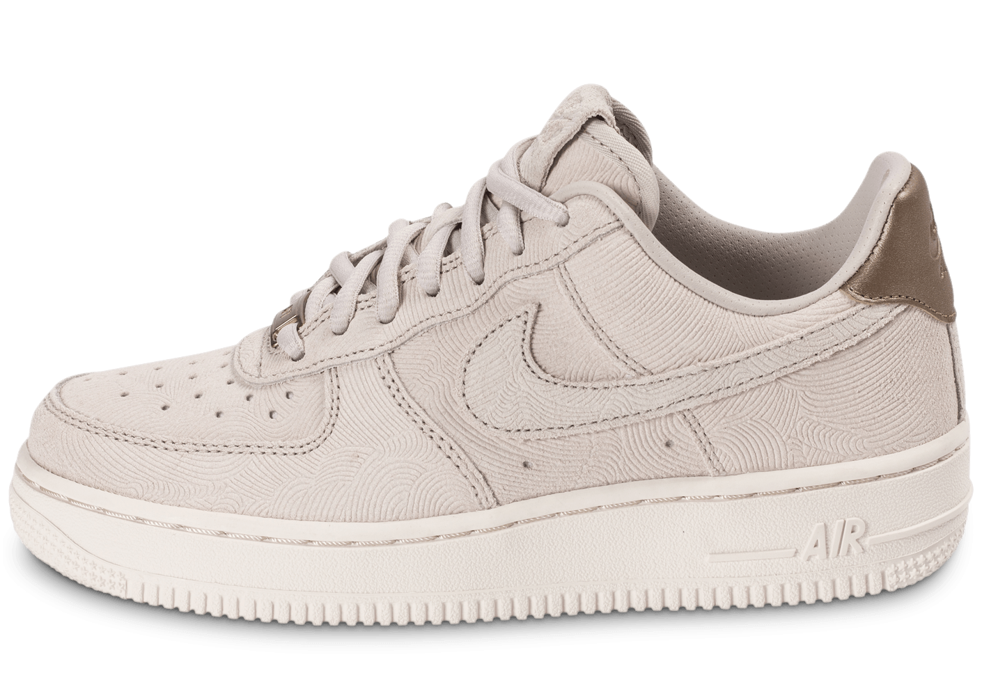 air force 1 low femme blanche et rouge