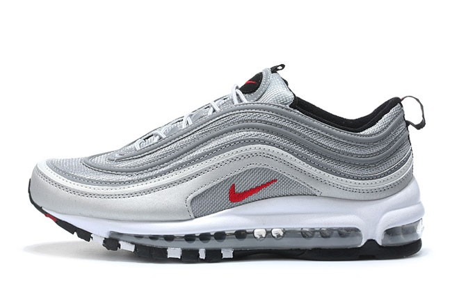 nike air max 97 se femme blanche/blanche/bleu rouge